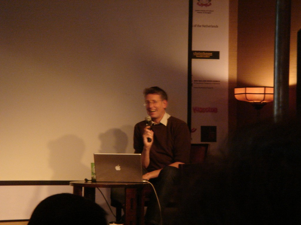Jonathan Watts answering a question at the Shanghai International Literary Festival 2011