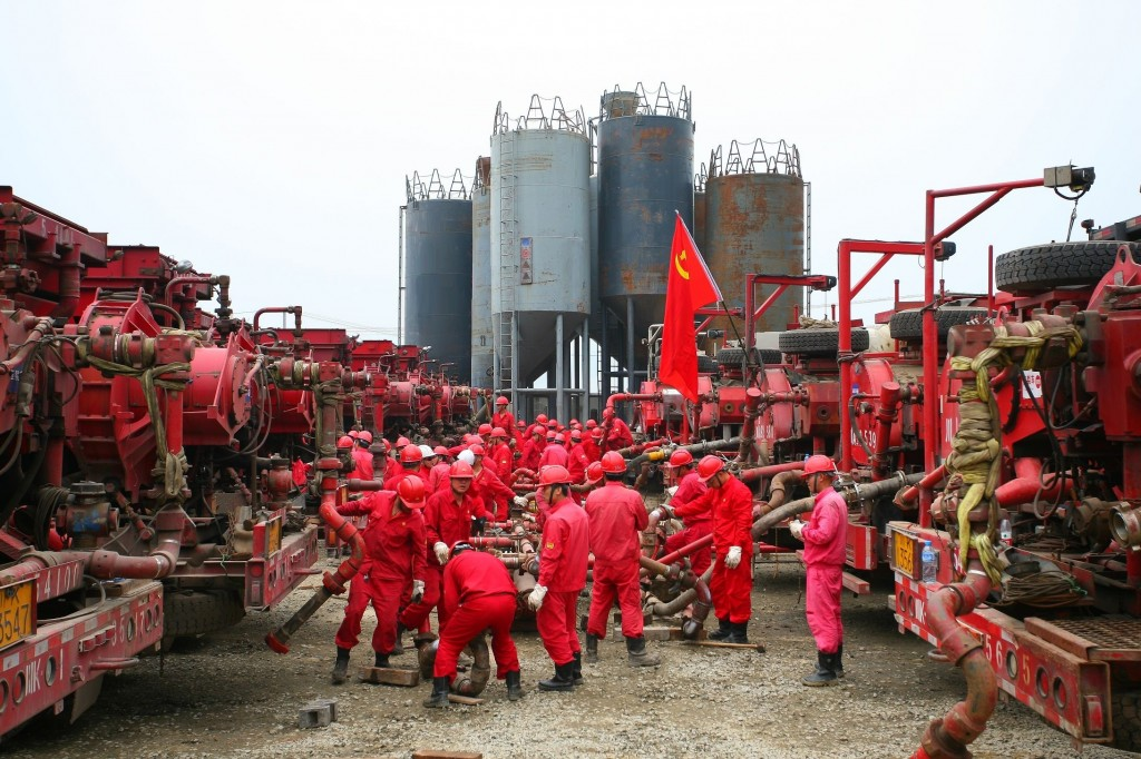 Hydraulic fracturing operations by Anton Oilfield Services in Sichuan province, southwest China, courtesy of Anton Oilfield.